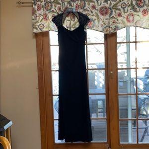 RL floor length black jersey evening gown